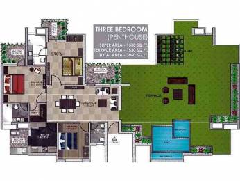 3060 sqft, 3 bhk Apartment in Builder Project Zirakpur punjab, Chandigarh at Rs. 13500