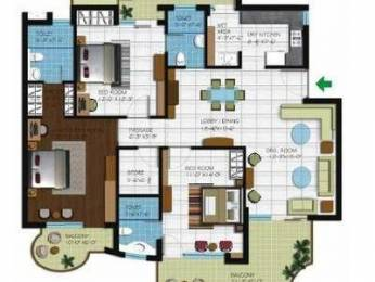 1975 sqft, 3 bhk Apartment in Builder Project Zirakpur punjab, Chandigarh at Rs. 17000