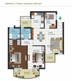 1385 sqft, 2 bhk Apartment in Malwa Escon Arena Nagla, Zirakpur at Rs. 50.0000 Lacs