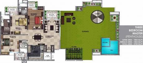 3704 sqft, 3 bhk Apartment in  Maya Garden City Nagla, Zirakpur at Rs. 80.0000 Lacs