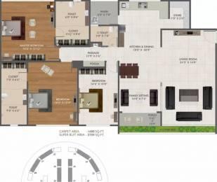 2759 sqft, 3 bhk Apartment in Green Green City Gold Pal Gam, Surat at Rs. 1.0500 Cr