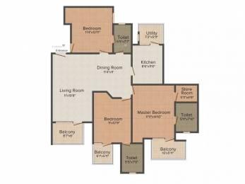 1693 sqft, 3 bhk Apartment in Astrum La Regencia Sector 19, Panipat at Rs. 65.0000 Lacs