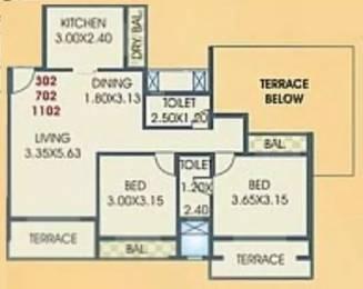 1200 sqft, 2 bhk Apartment in Juhi Residency Kamothe, Mumbai at Rs. 89.0000 Lacs