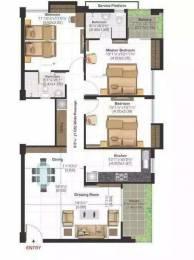1303 sqft, 3 bhk Apartment in Ashiana Umang Mahindra Sez, Jaipur at Rs. 44.0000 Lacs