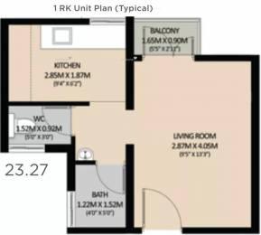 325 sqft, 1 bhk Apartment in Mahindra Happinest Boisar Phase IV Boisar, Mumbai at Rs. 15.2000 Lacs