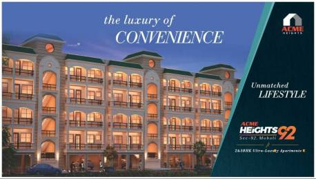 1800 sqft, 3 bhk Apartment in Builder Project Sector 92 Mohali, Mohali at Rs. 45.9500 Lacs