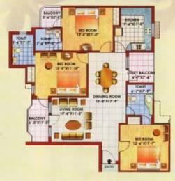 1699 sqft, 3 bhk Apartment in Jaipuria Sunrise Greens Apartment Ahinsa Khand 1, Ghaziabad at Rs. 16000