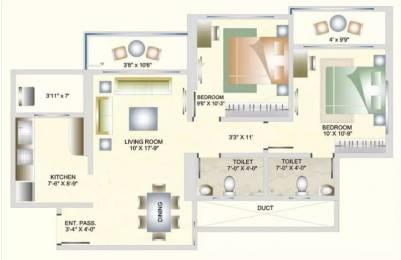 999 sqft, 2 bhk Apartment in DB Orchid Suburbia Kandivali West, Mumbai at Rs. 36000