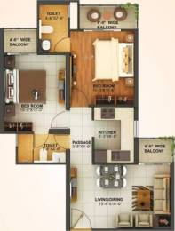 900 sqft, 2 bhk Apartment in Mahagun Montage Crossing Republik, Ghaziabad at Rs. 24.2550 Lacs