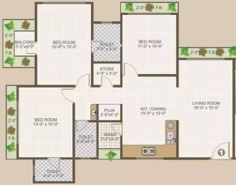 1774 sqft, 3 bhk Apartment in Happy Home Nandavan 2 Vesu, Surat at Rs. 75.0000 Lacs
