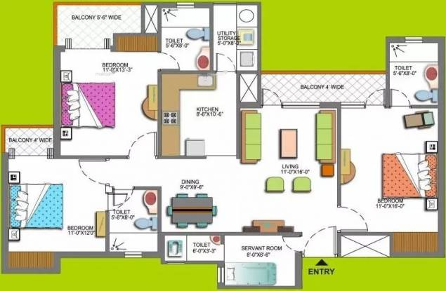 1685 sqft, 3 bhk Apartment in Paramount Floraville Sector 137, Noida at Rs. 72.0000 Lacs