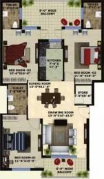 1560 sqft, 3 bhk Apartment in Mona Greens 2 Gazipur, Zirakpur at Rs. 13000