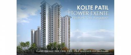 1705 sqft, 3 bhk Apartment in Kolte Patil iTowers Exente Electronic City Phase 2, Bangalore at Rs. 87.8700 Lacs