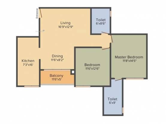 1273 sqft, 2 bhk Apartment in Prestige Royale Gardens Yelahanka, Bangalore at Rs. 80.0000 Lacs