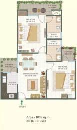 1065 sqft, 2 bhk Apartment in MR Shalimar City Pasaunda, Ghaziabad at Rs. 42.0000 Lacs
