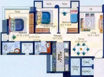 1270 sqft, 2 bhk Apartment in Evershine Embassy Andheri West, Mumbai at Rs. 52000
