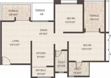 1065 sqft, 2 bhk Apartment in GK Rose Woods Pimple Saudagar, Pune at Rs. 19000