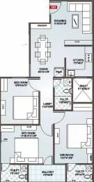 1460 sqft, 3 bhk Apartment in Icarus Usha Residency Rajapark, Jaipur at Rs. 22000