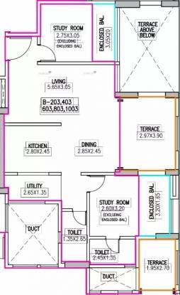 936 sqft, 2 bhk Apartment in Navalakha Ritz Kharadi, Pune at Rs. 25000