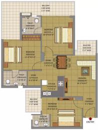 1375 sqft, 3 bhk Apartment in Gaursons Siddhartham Siddharth Vihar, Ghaziabad at Rs. 42.0000 Lacs