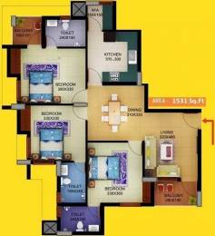 1531 sqft, 3 bhk Apartment in Sun Elecasa Aakkulam, Trivandrum at Rs. 78.0000 Lacs