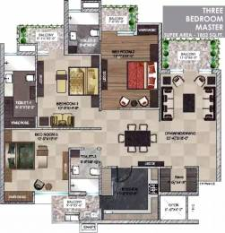 1852 sqft, 3 bhk Apartment in  Maya Garden City Nagla, Zirakpur at Rs. 25000