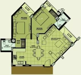 1207 sqft, 2 bhk Apartment in Mona Greens VIP Rd, Zirakpur at Rs. 17000