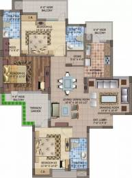 1910 sqft, 3 bhk Apartment in Motia Royal Citi Apartments Gazipur, Zirakpur at Rs. 20000