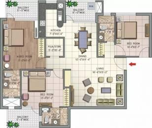 1735 sqft, 3 bhk Apartment in NK Savitry Greens VIP Rd, Zirakpur at Rs. 16000