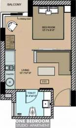 610 sqft, 1 bhk Apartment in  Maya Garden City Nagla, Zirakpur at Rs. 14000