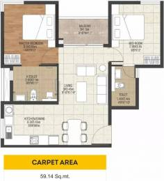 828 sqft, 2 bhk Apartment in Brigade Parkside East Sarjapur Road Wipro To Railway Crossing, Bangalore at Rs. 69.0000 Lacs