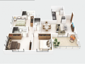 1111 sqft, 3 bhk Apartment in Kolte Patil Western Avenue Wakad, Pune at Rs. 1.0800 Cr