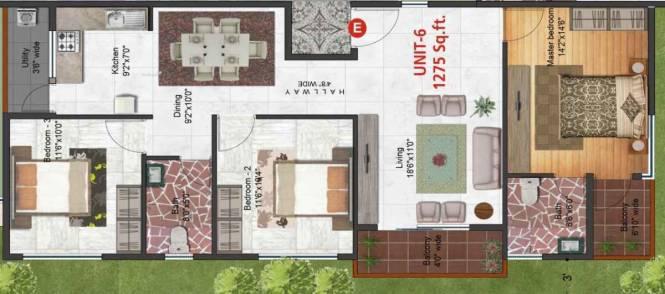 1275 sqft, 2 bhk Apartment in Builder Shivaganga Swagath Bommanahalli, Bangalore at Rs. 48.4500 Lacs