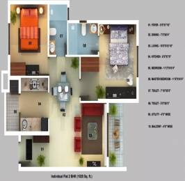 1025 sqft, 2 bhk Apartment in Mantri Serenity Subramanyapura, Bangalore at Rs. 69.0000 Lacs