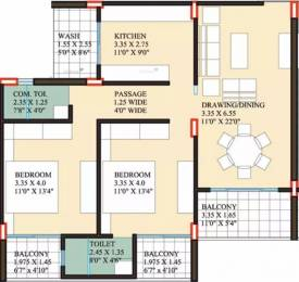 1350 sqft, 2 bhk Apartment in Coral Reefs Coral Reefs Rau, Indore at Rs. 12000