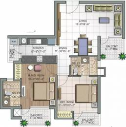 1155 sqft, 2 bhk Apartment in NK Savitry Greens VIP Rd, Zirakpur at Rs. 35.4000 Lacs