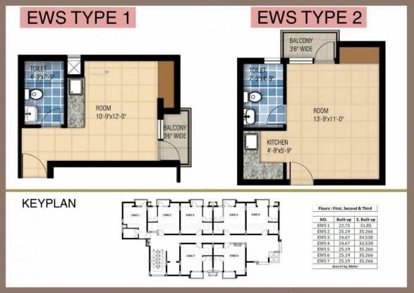 400 sqft, 1 bhk Apartment in Shri Balaji Swastik Grand Jatkhedi, Bhopal at Rs. 6.7500 Lacs