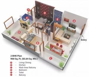 900 sqft, 2 bhk Apartment in Nariman Nariman Point Mahalakshmi Nagar, Indore at Rs. 12000
