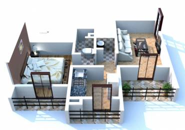 690 sqft, 1 bhk Apartment in Gami Trixie Ulwe, Mumbai at Rs. 70.0000 Lacs