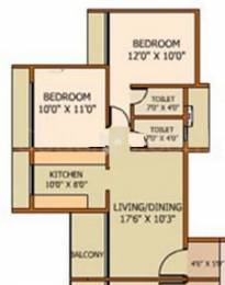 1100 sqft, 2 bhk Apartment in National Marvel Ulwe, Mumbai at Rs. 90.0000 Lacs