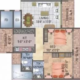 1325 sqft, 2 bhk Apartment in BKS Orion Kharghar, Mumbai at Rs. 82.0000 Lacs