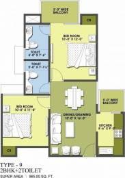 965 sqft, 2 bhk Apartment in MR Proview Delhi 99 Indraprastha Yojna, Ghaziabad at Rs. 26.0000 Lacs