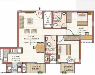 1477 sqft, 2 bhk Apartment in Expat The Wisdom Tree Community Narayanapura on Hennur Main Road, Bangalore at Rs. 64.5000 Lacs