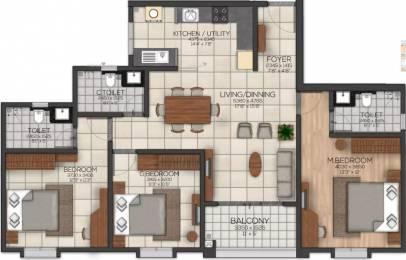1538 sqft, 3 bhk Apartment in Brigade Serene At Brigade Cornerstone Utopia Varthur, Bangalore at Rs. 75.0000 Lacs
