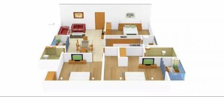 1450 sqft, 3 bhk Apartment in Spring Greens Phase 1 Gomti Nagar, Lucknow at Rs. 44.9500 Lacs