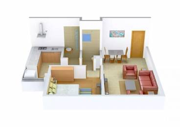 650 sqft, 1 bhk Apartment in Adani Aangan Near Vaishno Devi Circle On SG Highway, Ahmedabad at Rs. 8000