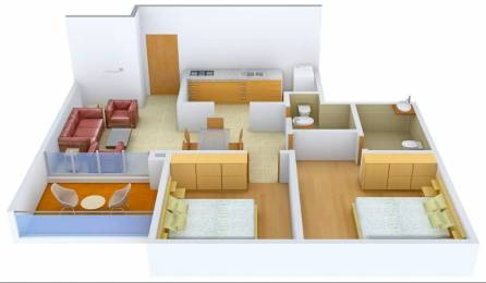 938 sqft, 2 bhk Apartment in Duville Riverdale Heights Kharadi, Pune at Rs. 85.0000 Lacs