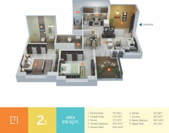 821 sqft, 2 bhk Apartment in Pate Life Montage Phase 2 Sus, Pune at Rs. 39.0000 Lacs