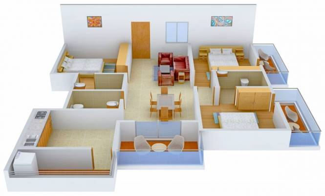 1730 sqft, 3 bhk Apartment in DSR Ultima Harlur, Bangalore at Rs. 1.1000 Cr