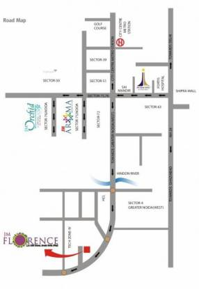 1197 sqft, 2 bhk Apartment in JM Florence Techzone 4, Greater Noida at Rs. 38.9025 Lacs